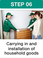 STEP 06 Carrying in and installation of household goods
